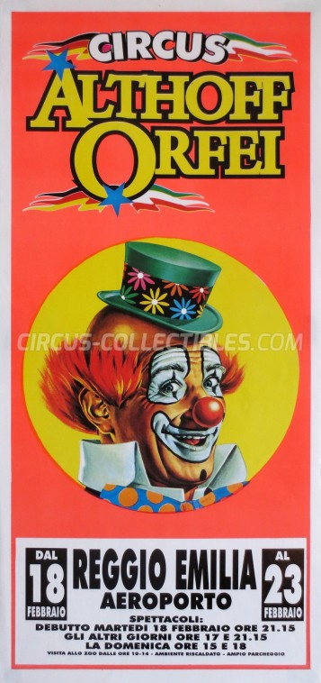 Althoff Orfei Circus Poster - Italy, 1992