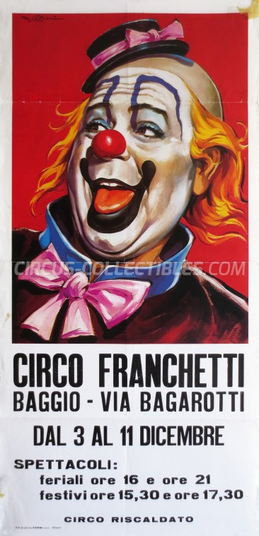Franchetti Circus Poster - Italy, 0