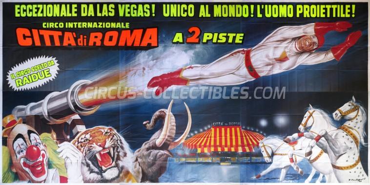 Citta' di Roma Circus Poster - Italy, 1992