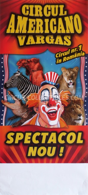 Americano Vargas Circus Poster - Romania, 2015