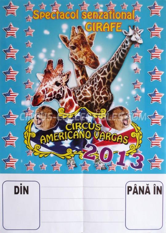 Americano Vargas Circus Poster - Romania, 2013