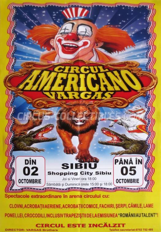 Americano Vargas Circus Poster - Romania, 0