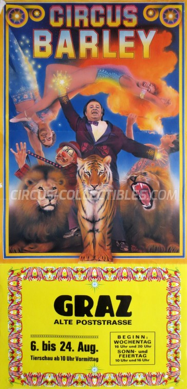Barley Circus Poster - Austria, 1986