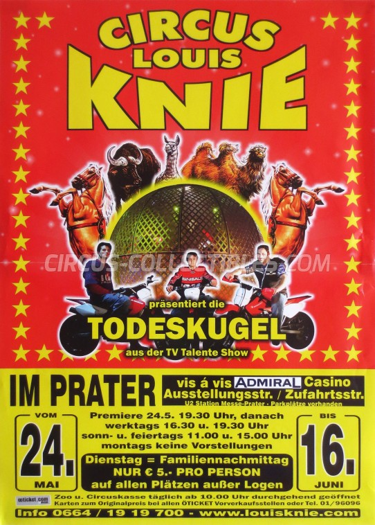 Louis Knie Circus Poster - Austria, 2013