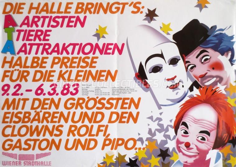 Artisten-Tiere-Attraktionen Circus Poster - Austria, 1983
