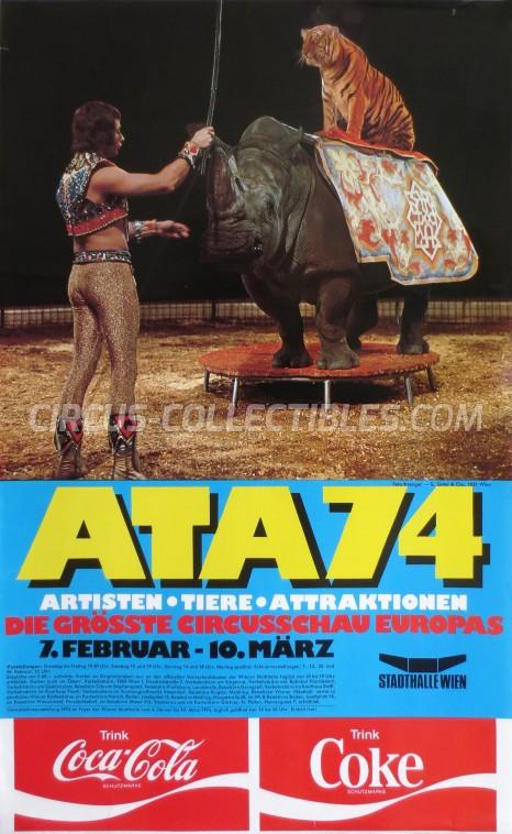 Artisten-Tiere-Attraktionen Circus Poster - Austria, 1974
