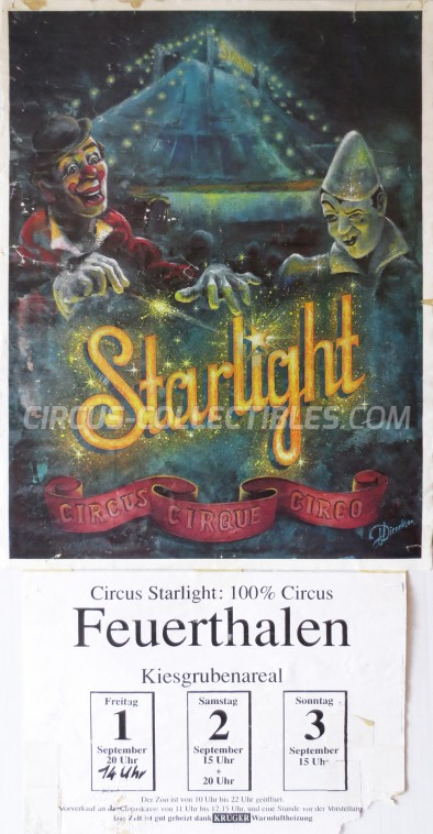 Starlight Circus Poster - Switzerland, 1995