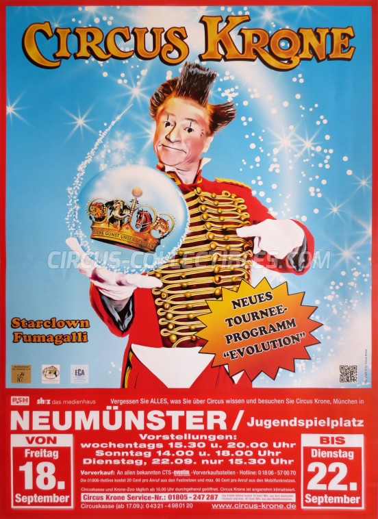 Krone Circus Poster - Germany, 2015