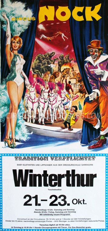 Nock Circus Poster - Switzerland, 1977