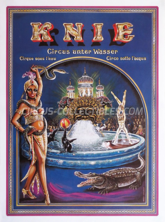 Knie Circus Poster - Switzerland, 1989