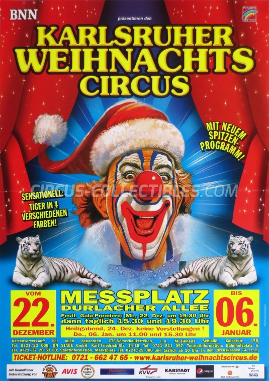 Karlsruher Weihnachts Circus Circus Poster - Germany, 2010