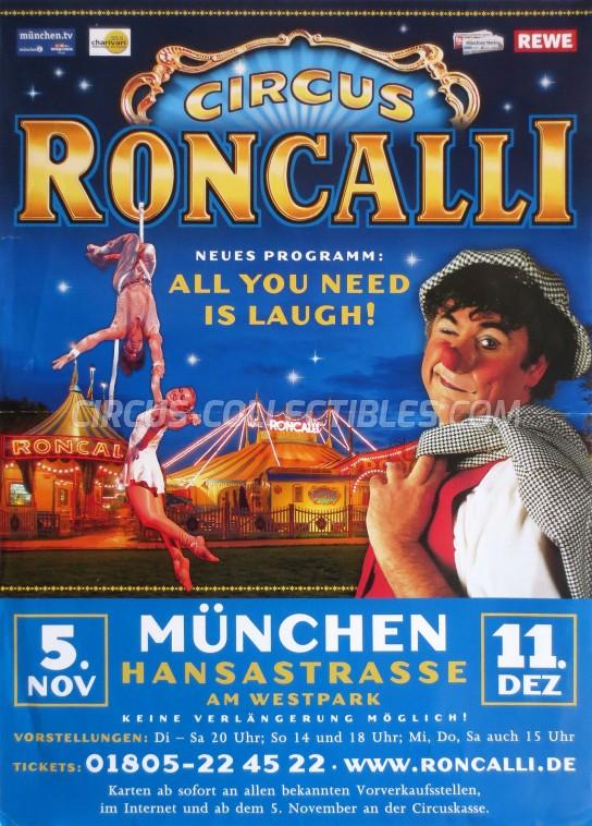 Roncalli Circus Poster - Germany, 2010
