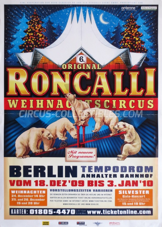 Roncalli Circus Poster - Germany, 2009