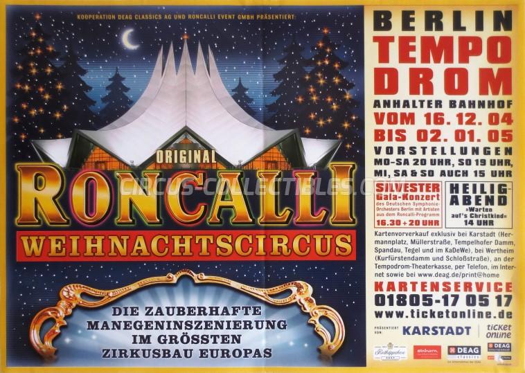 Roncalli Circus Poster - Germany, 2004