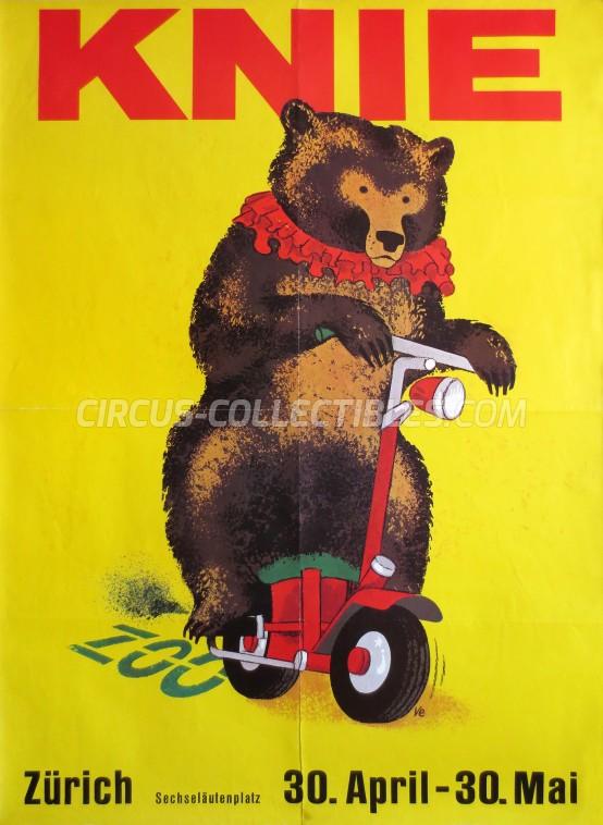 Knie Circus Poster - Switzerland, 1976