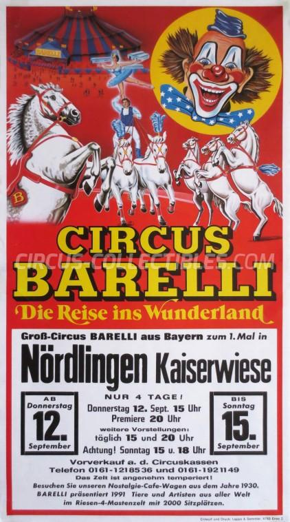 Barelli Circus Poster - Germany, 1991