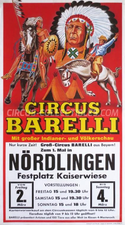 Barelli Circus Poster - Germany, 1990