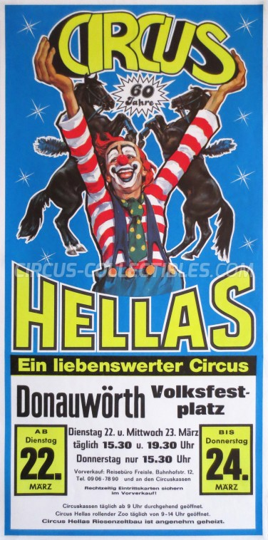 Hellas Circus Poster - Germany, 1988
