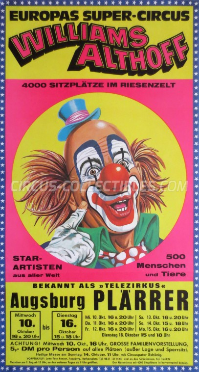 Althoff-Williams Circus Poster - Germany, 1979