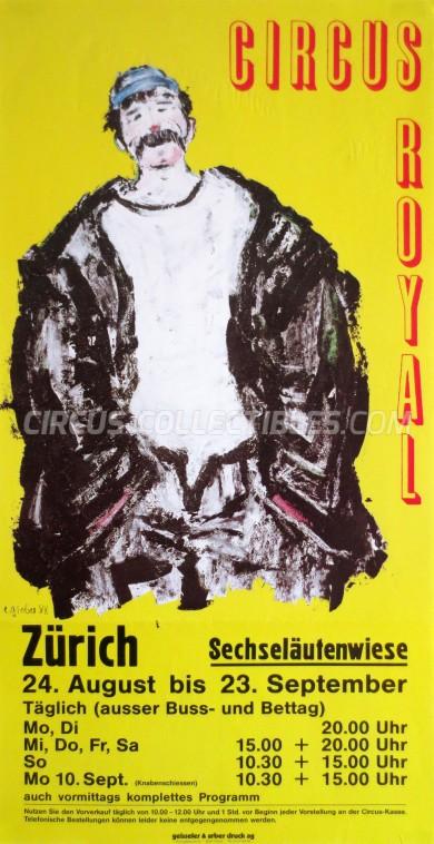 Royal (CH) Circus Poster - Switzerland, 1990