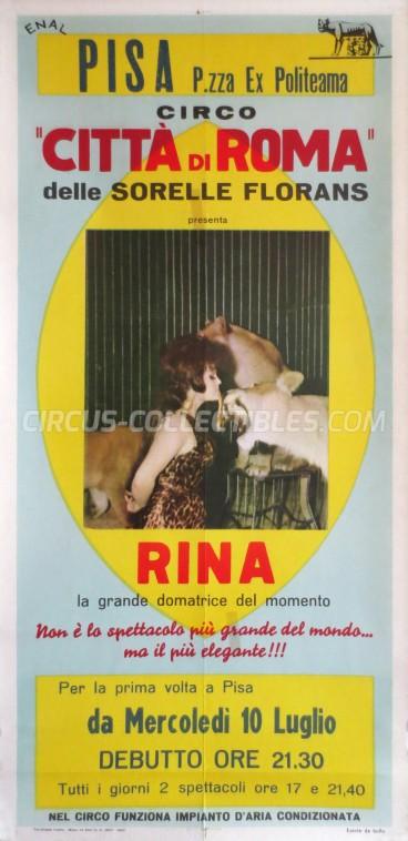 Citta' di Roma Circus Poster - Italy, 1968