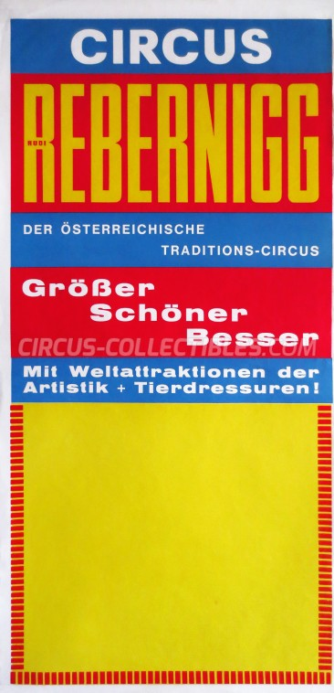 Rebernigg Circus Poster - Austria, 1971