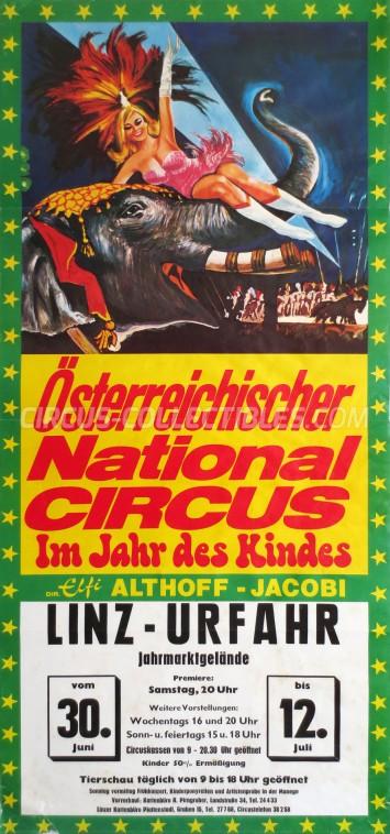 Elfi Althoff-Jacobi Circus Poster - Austria, 1973