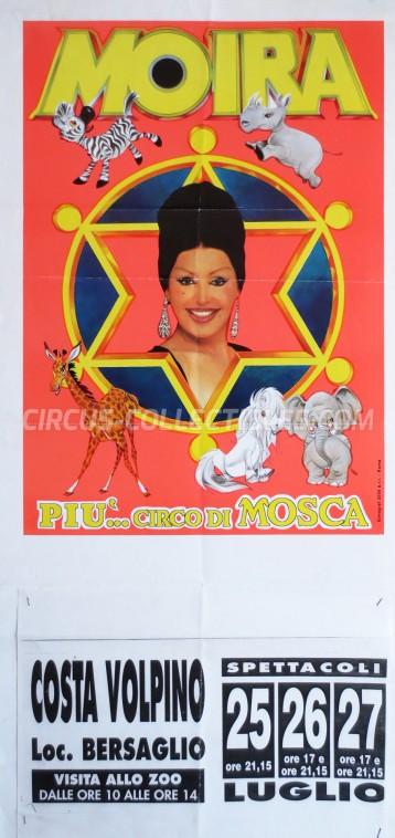 Moira Orfei Circus Poster - Italy, 1997