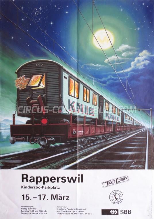 Knie Circus Poster - Switzerland, 1996