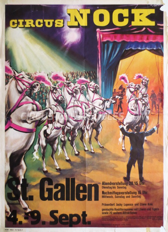 Nock Circus Poster - Switzerland, 1973