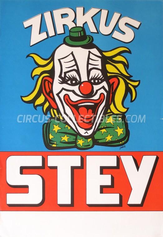 Stey Circus Poster - Switzerland, 1986