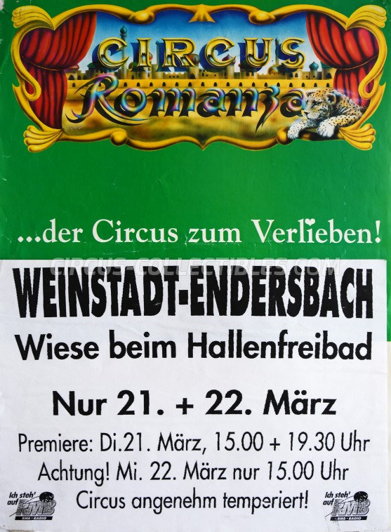 Romanza Circus Poster - Germany, 1995