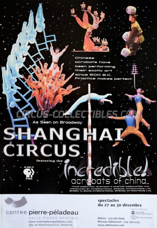 Shanghai Circus Circus Poster - China, 2003