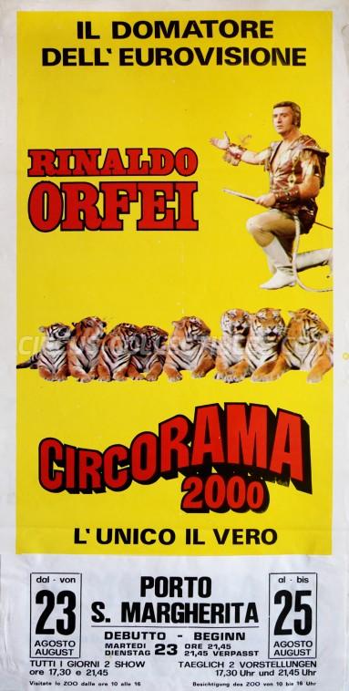 Rinaldo Orfei Circus Poster - Italy, 1983