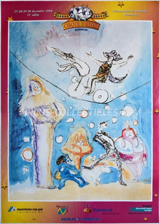 Cirque d'Hiver Circus Poster - Netherlands, 1999