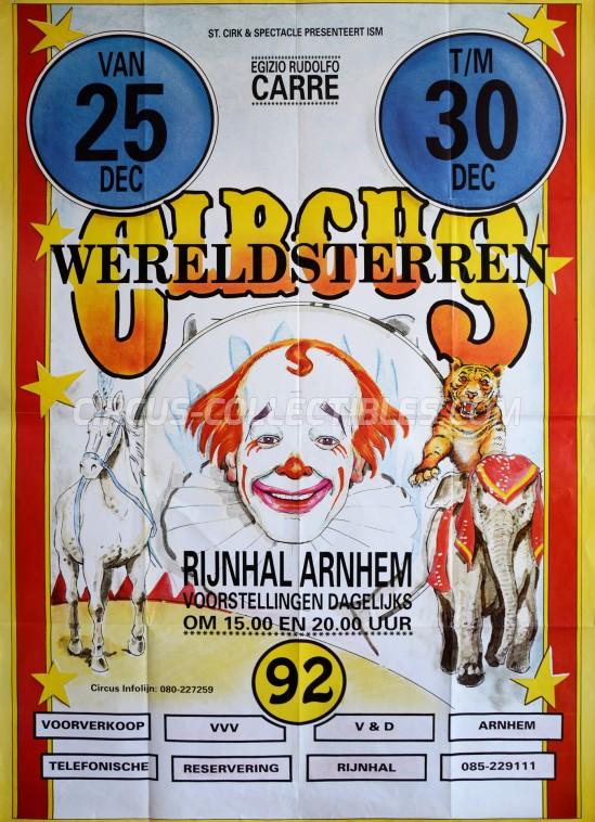 Wereldsterren Circus Circus Poster - Netherlands, 1992
