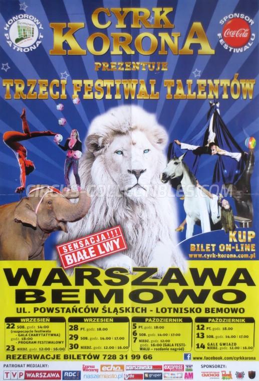 Korona Circus Poster - Poland, 2012