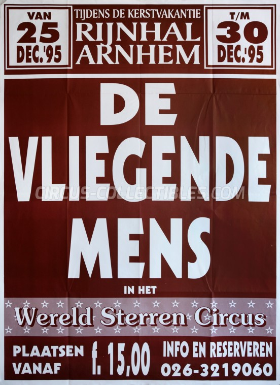 Wereldsterren Circus Circus Poster - Netherlands, 1995