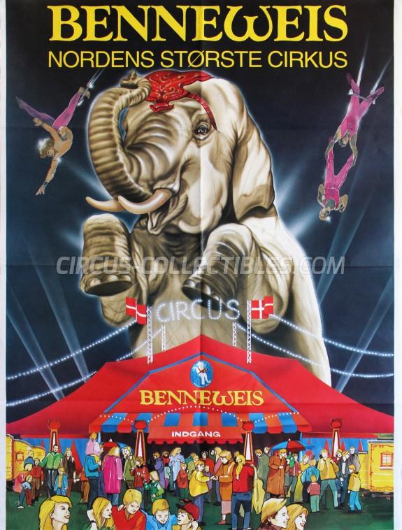 Benneweis Circus Poster - Denmark, 1994