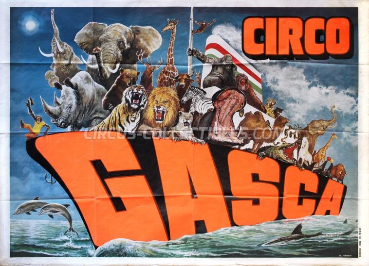 Gasca Circus Poster - Mexico, 1989