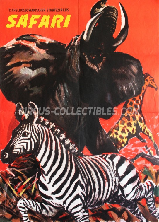 Safari Circus Poster - Czech Republic, 1989