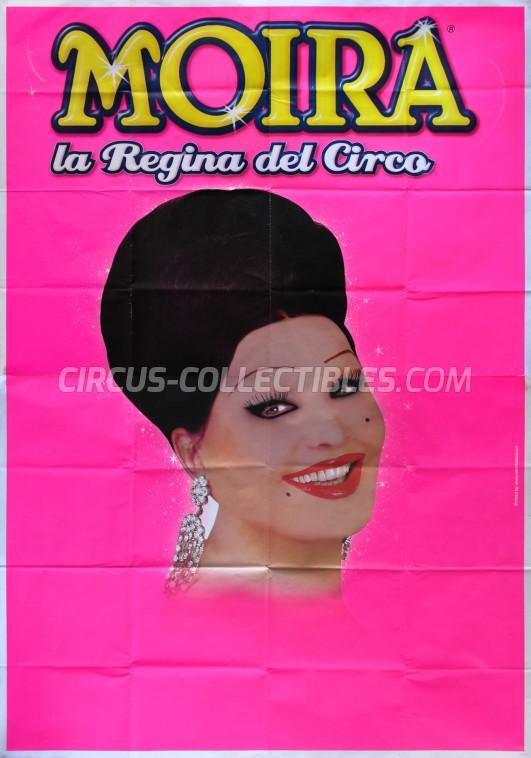 Moira Orfei Circus Poster - Italy, 2014