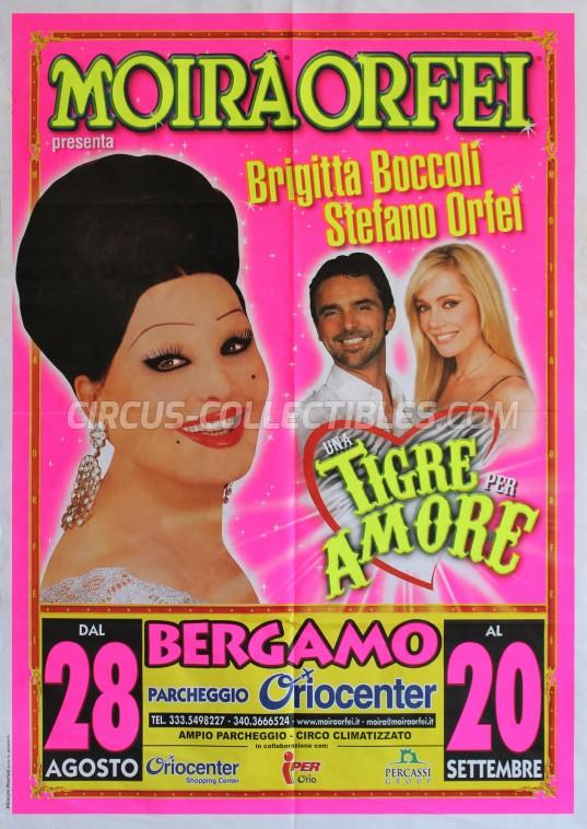 Moira Orfei Circus Poster - Italy, 2007