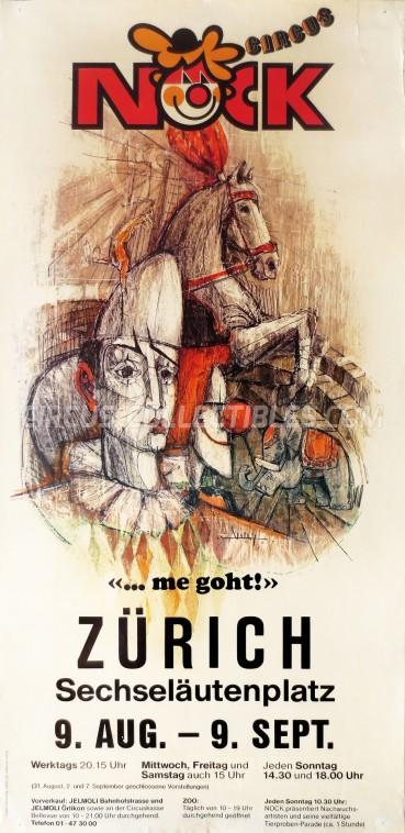 Nock Circus Poster - Switzerland, 1983