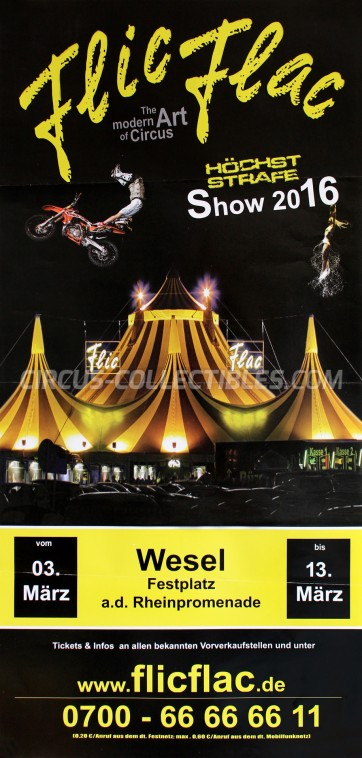 Flic Flac Circus Poster - Germany, 2016