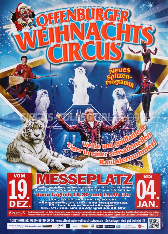 Offenburger Weihnachts Circus Circus Poster - Germany, 2014
