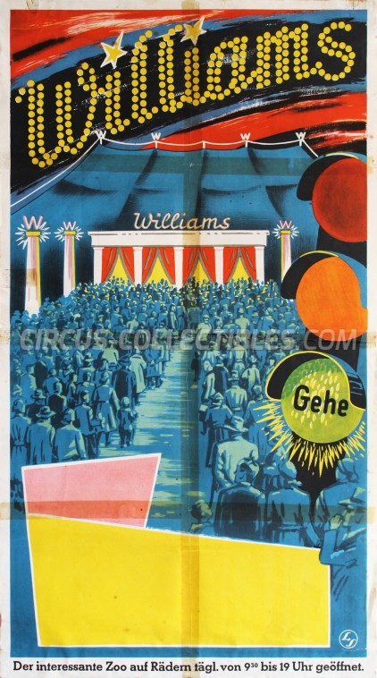 Williams Circus Poster - Germany, 1958