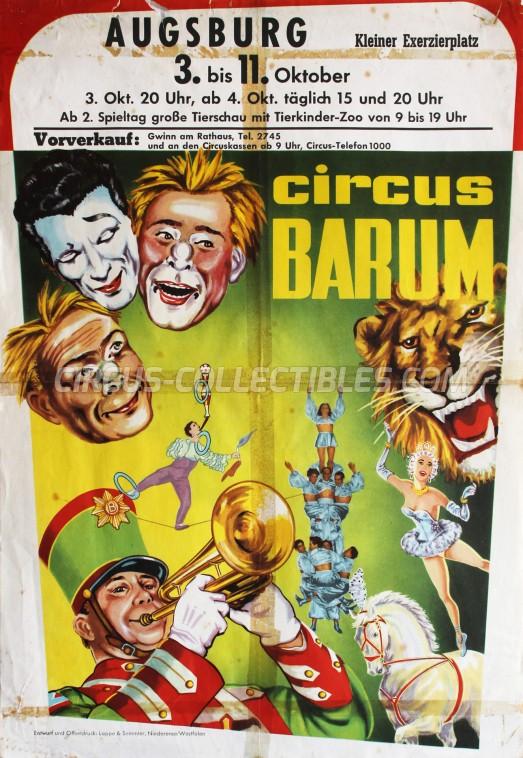 Barum Circus Poster - Germany, 1967