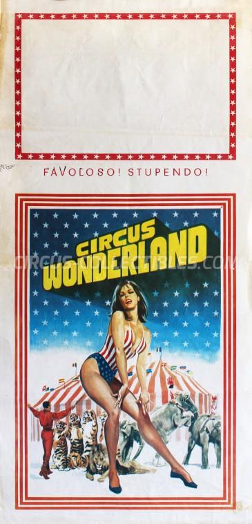 Wonderland Circus Poster - Italy, 1978