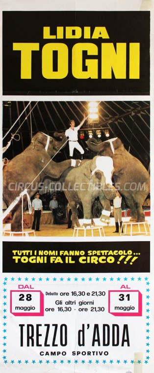 Lidia Togni Circus Poster - Italy, 1983